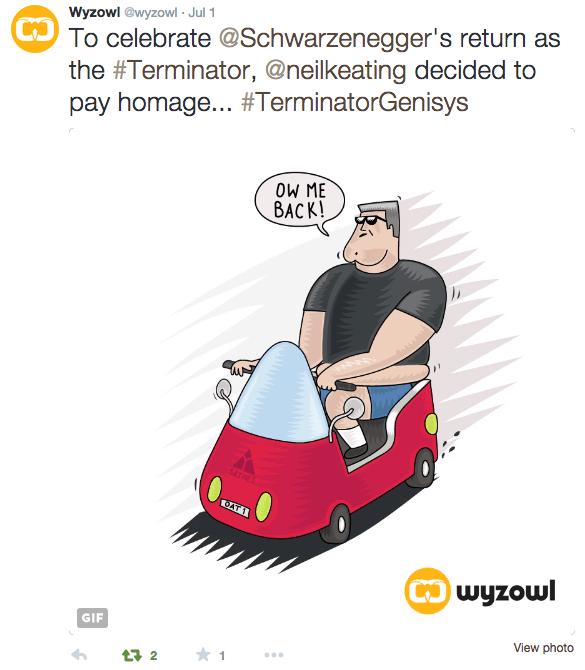 Terminator arnie illustration