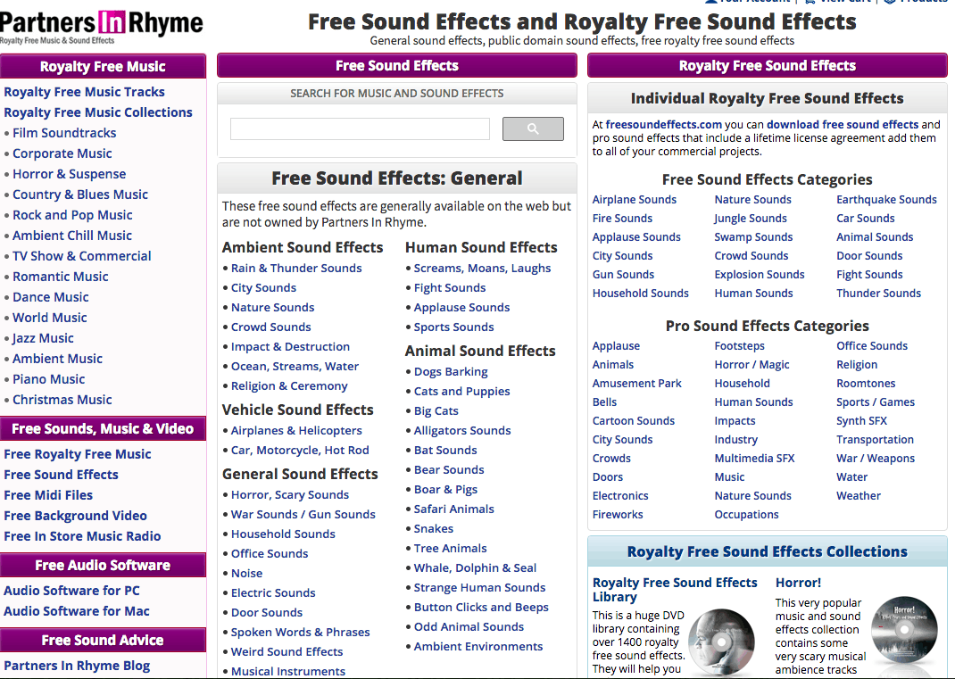 15 Awesome Free Sound Effects Sites – Reviewed