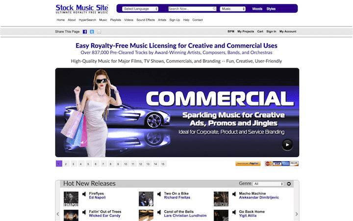 Stock Music Site