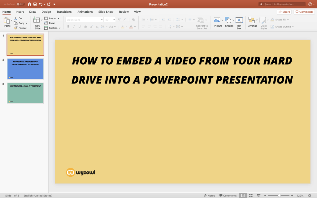 How To Embed a Video in PowerPoint (From Drive & YouTube)