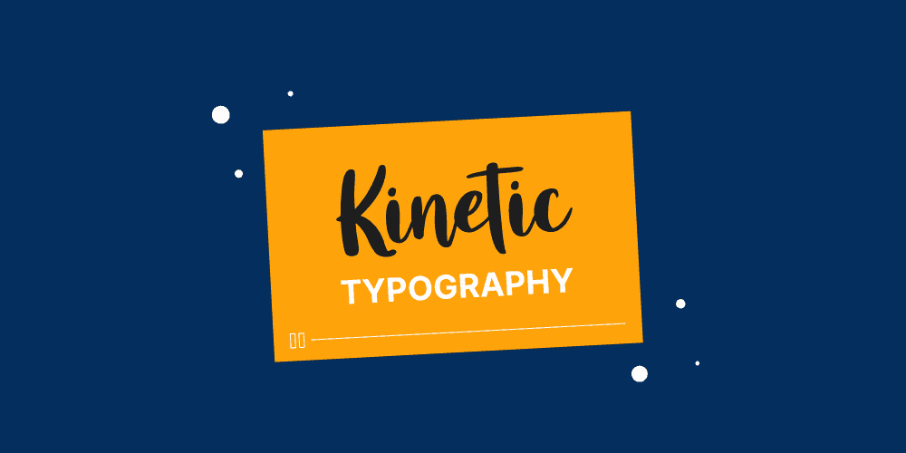 Videos that use kinetic typography