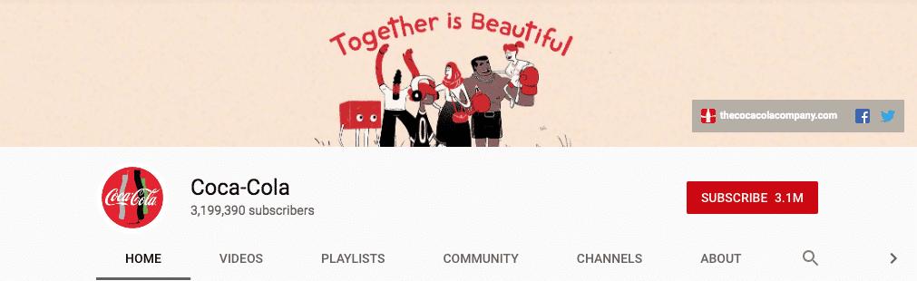 coca cola youtube banner