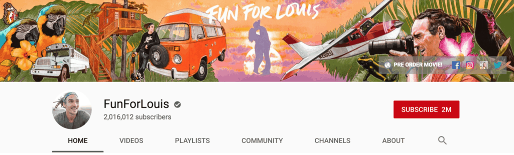 fun for louis youtube banner