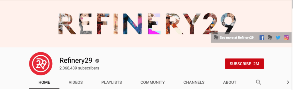 refinery29 youtube banner