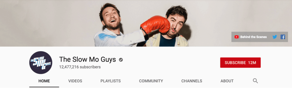 the slo mo guys youtube banner