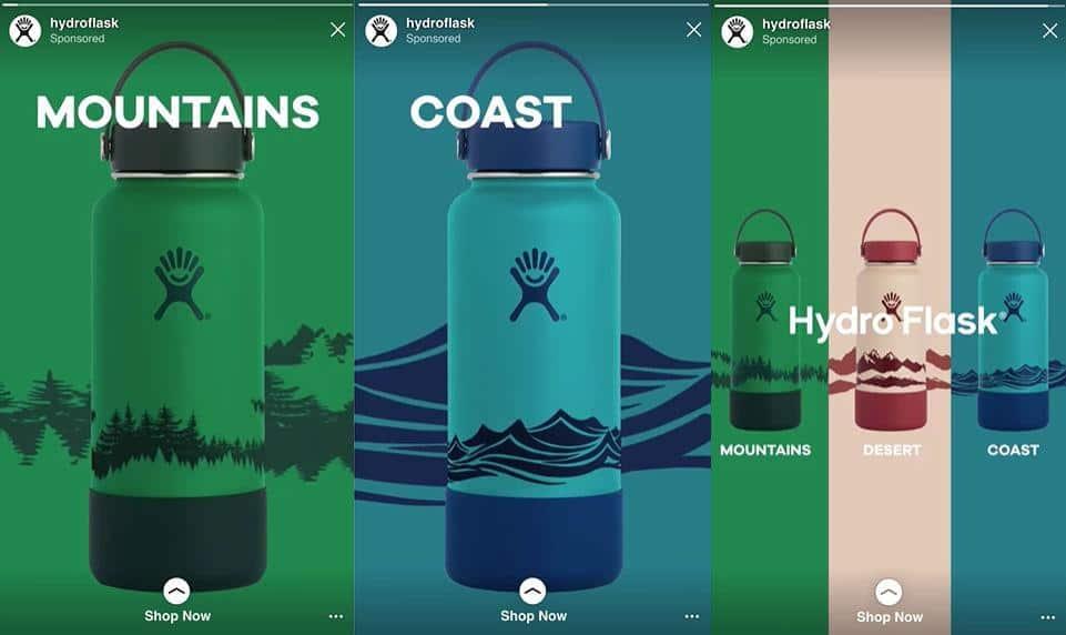 hydro flask instagram ad
