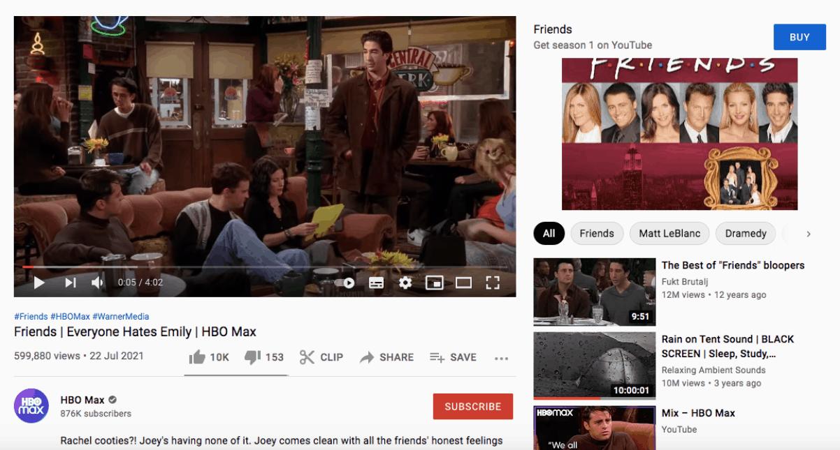 YouTube + HBO